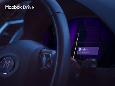 Mapbox Drive directions maps dashboard car drive mapbox