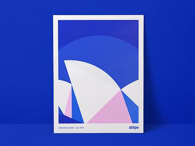 Australia Launch Poster stripe australia