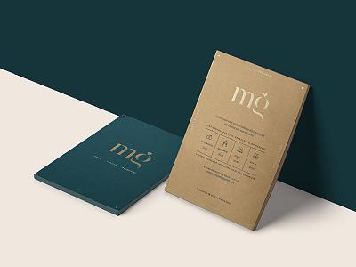 Margot & Geert monogram gold foil letterpress invitation invite wedding