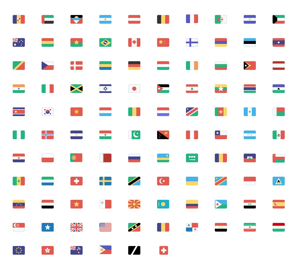 All the flags 2x