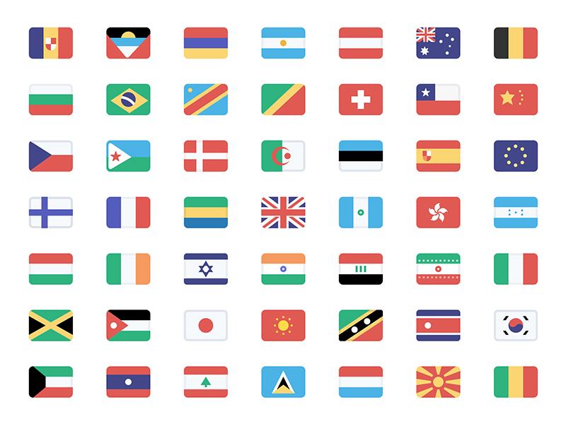Stripe Flag Set flags