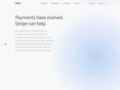 Stripe Enterprise shaders webgl global globe landing page enterprise stripe