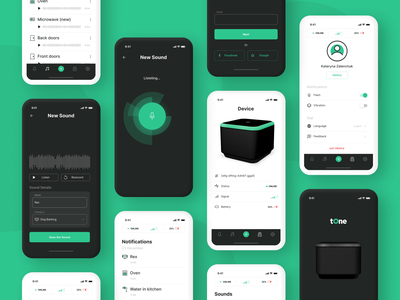 Tone – App for Deaf and Hearing Loss People screens light ui dark ui device inclusive app