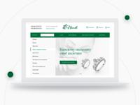 Jewelry network e-commerce website + Free macbook mockup