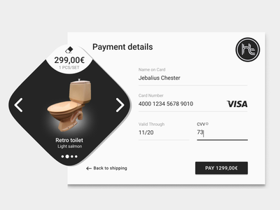 Daily UI #002: Credit Card Checkout interface design ui user experience branding ux form dailyui002 dailyui checkout creditcardcheckout