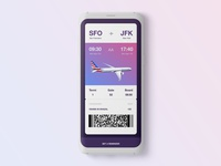 DailyUI Day#023 -Boarding Pass-