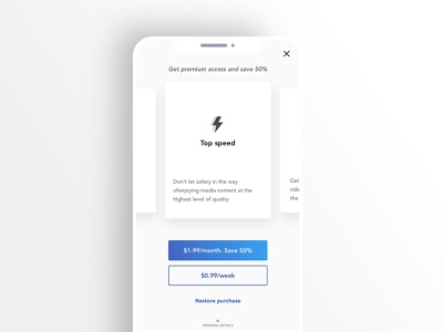 Safe.fi IAP | Paywall screen apps user experience ios iap paywall minimal user interface design adobexd interactive ux ui