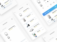 Adobe XD Design (E-commerce items menu)
