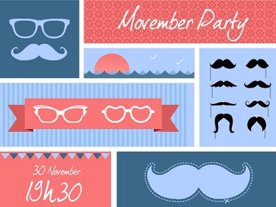 Movember Party movember mustache glasses