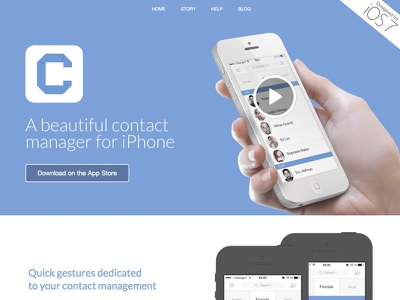 Connect's new website connect iphone app iphone 5s flat website landing page video ios7 app icon