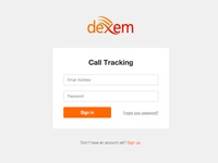 New login box for Dexem's products