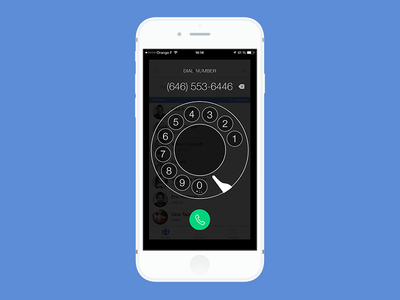 iPhone Dialer Experimentation 2 app iphone ios dialpad dialer