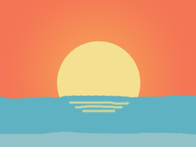 Dribbble sunrise