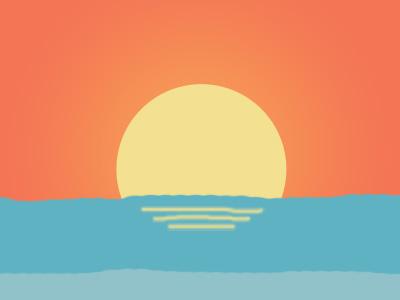 Sunrise over the sea flat sea sunrise