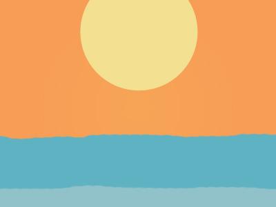 Sun rised over the sea ocean sea flat sunrise sun