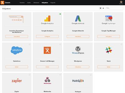 Integrations setup in Dexem products webhooks zapier wordpress slack salesforce google dexem setup integration