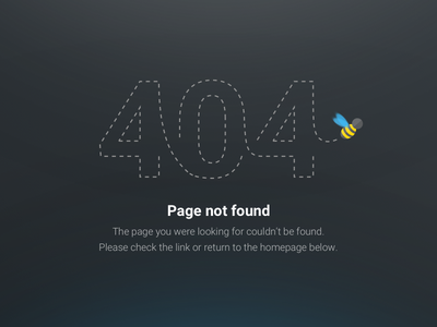 404: Flying Bee error page not found bee 404
