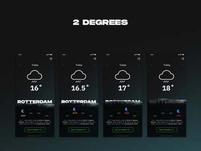 Design Challenge - Weather app hackathon climate climate change ui ux temperature global warming concept app weather weather app challenge