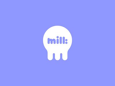 Milk Logo Concept fun logo m logo mik logo cow logo cow moo white milk logo brand identity minimal branding visual design