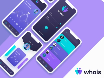 Whois App wireframes