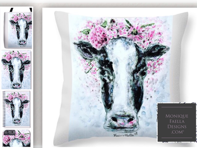 """My """"Crown of Flowers Cow"""" design!"""