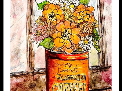 """""""Coffee Can Bouquet"""" colorized!"""