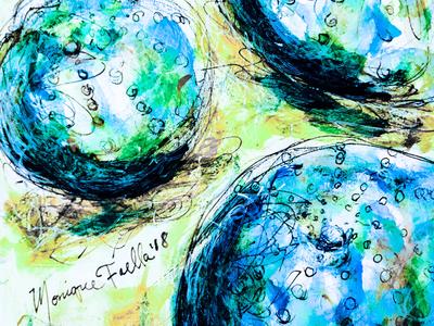 """Enchanting Sea Urchins"" Illustration"