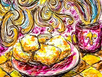 """Beignets for Breakfast!"" Illustration"
