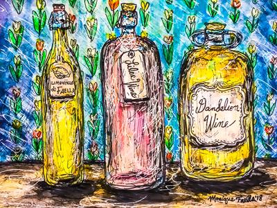 """Homemade Wine"" illustration"