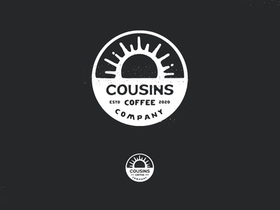 Cousins Coffee | Logo & Branding illustration coffee bean air roast hand drawn handrawn apple pencil ipad pro design label branding logo coffee