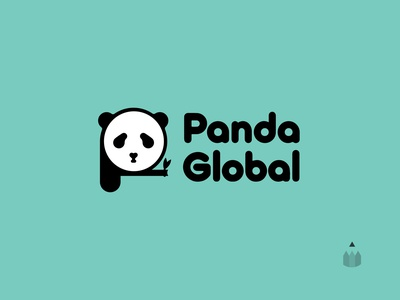 Panda | Daily Logo Challenge Day 3 daily logo challenge day 3 panda global p illustration vector dailylogochallenge panda logodesign logo design logo