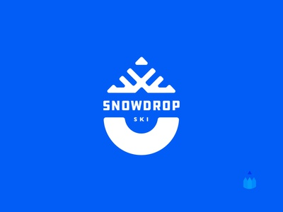 Daily logo challenge: Day 8 // Snowdrop Ski ❄️ 🎿 badge iconic merch illustration logo branding ski resort ski snow daily logo challenge snowdrop