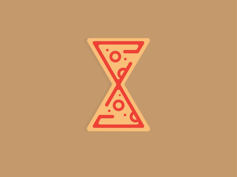 'X' | 36 Days of Type pizzatime xtra type 36daysoftype typography vector illustration design flat pizza