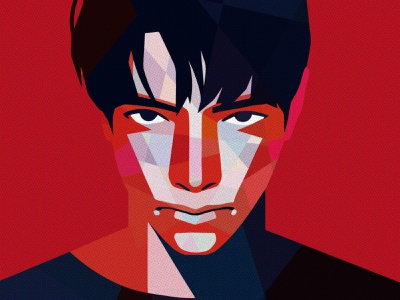 Pieces pixelart sketch artwork photograph painting male boy man sharp drawing illustration red portrait characterdesign lowpoly