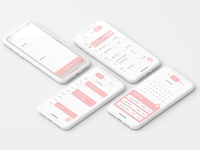 Calendar app flat minimal web ui ux design