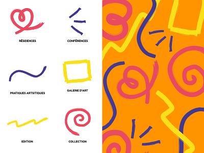 Pattern brush pencil line brush pattern design vector branding illustrator pattern