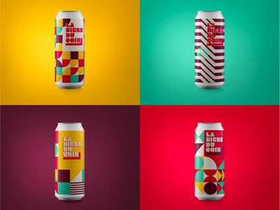 Beer label minimal logotype vector illustration branding geometric design pattern geometry colorful color geometric biere beer label