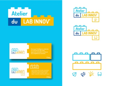 Workshop identity identity branding design playful learn construction lego workshop logo color branding logotype