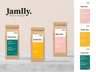 Label packaging tea minimalist minimalist logo minimal logo branding color label packaging tea