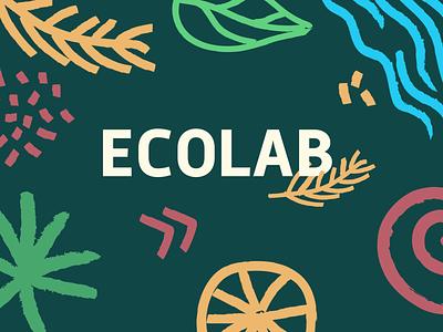 Branding ECOLAB typogaphy identity design identity design logotype logo green craft draw ecologic ecology painting illustration brush brushpen brushes branding color