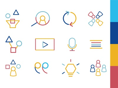 Iconography - Agile icons agility agile geometric design geometric geometry collective workshop team teamwork lines linear flat  design flat icons flat icon design icon icon set iconography graphic iconography