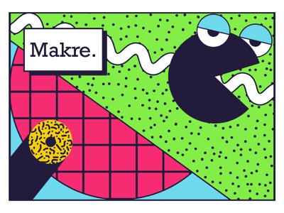 Makre - Abstract Geometric Shape Memphis tee shirt abstract shape shapes memphis style memphis design memphis identity branding color pattern mascot abstract design abstract art geometric art geometric geometry identity branding identity design design
