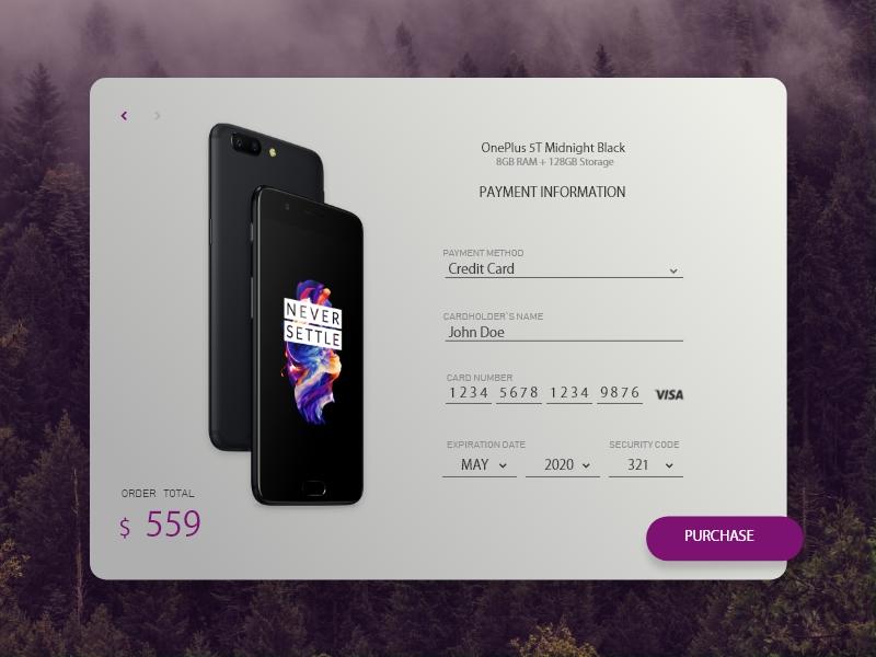 Credit Card Checkout checkout form ui