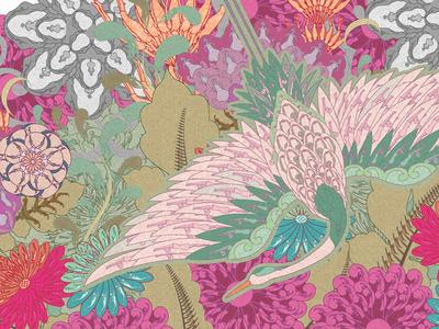 "Pattern illustration ""Crane"""