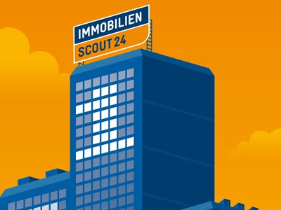 Immobilienscout24 illustration advertising sedat ademci berlin vector