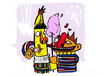 Ernie & Bert ernie bert sesame street illustration cartoon character sedat ademci