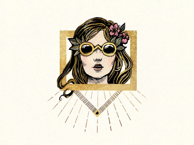 Royal Card Illustration cards luxury traditional ink drawing fashion gold illustration