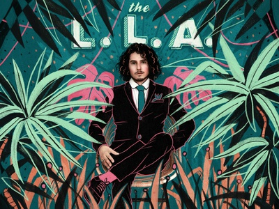 The L.L.A illustration jungle green drawing music illustration