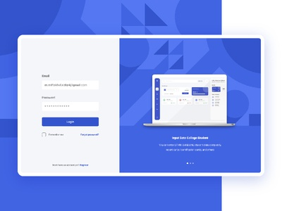 Login Screen Challenge flat screen mockup blu challenge login ui web concept app
