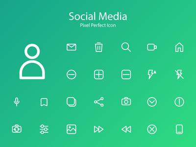 Social Media Icon mobile ios clean blue app vector typography logo minimal lettering illustrator illustration identity icon character branding brand type flat design